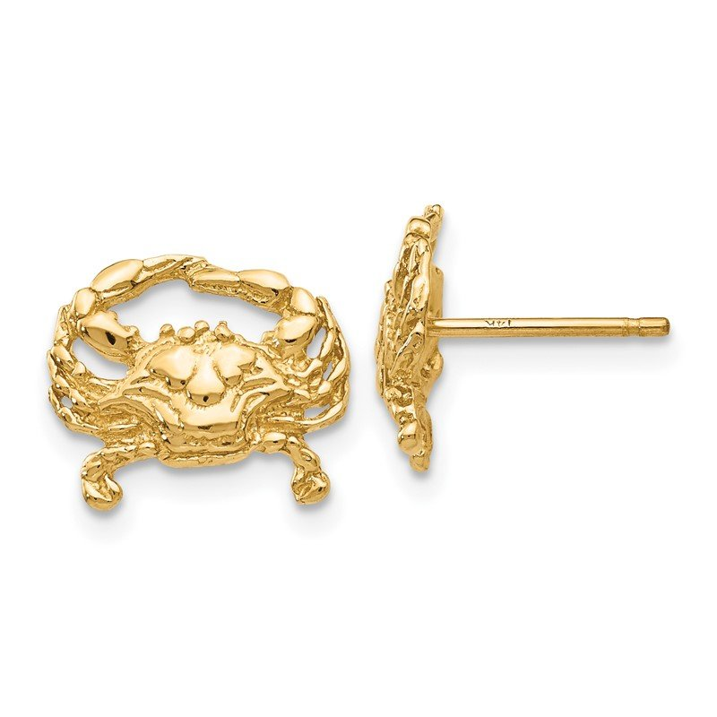 Quality Gold 14k Crab Post Earrings