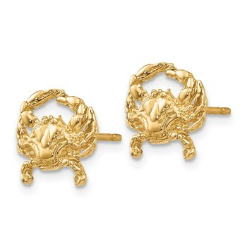14k Crab Post Earrings