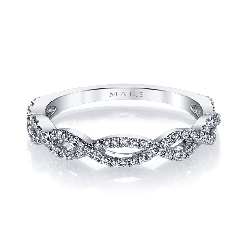 MARS Jewelry MARS 27030 Stackable Ring, 0.24 Ctw.