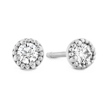 1.05 ctw. Liliana Milgrain Single Diamond Stud Earrings