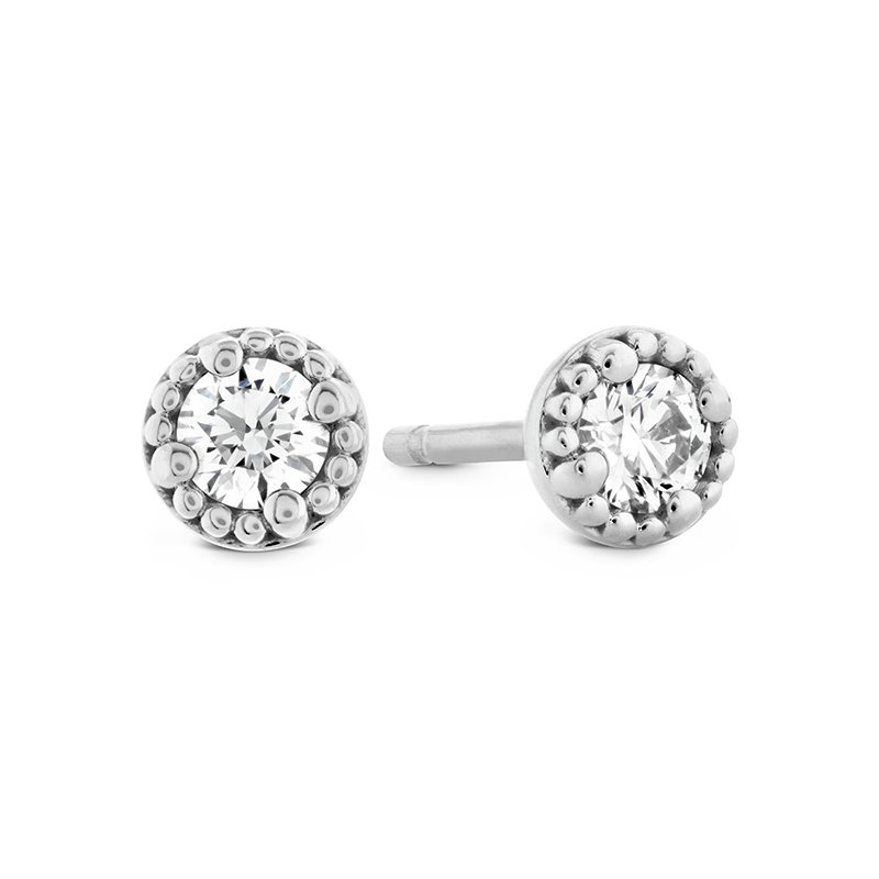 Hearts on Fire 1.05 ctw. Liliana Milgrain Single Diamond Stud Earrings
