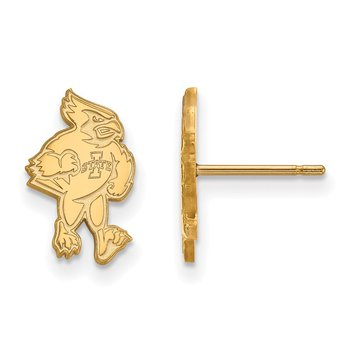 Gold-Plated Sterling Silver Iowa State University NCAA Earrings
