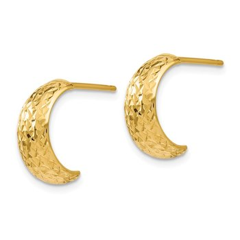 Leslie's 14K Polished and D/C Hoop Earrings