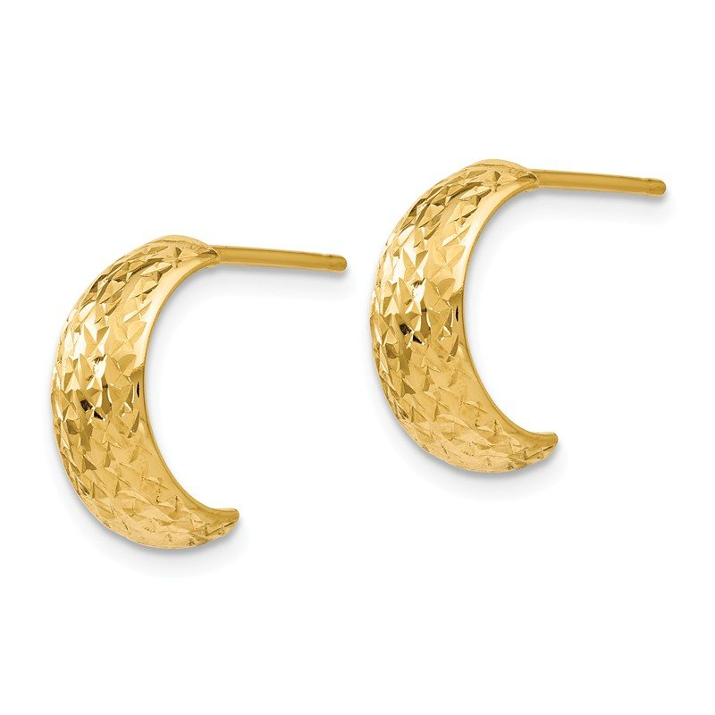 Leslie's Leslie's 14K Polished and D/C Hoop Earrings