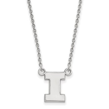Sterling Silver University of Illinois NCAA Necklace