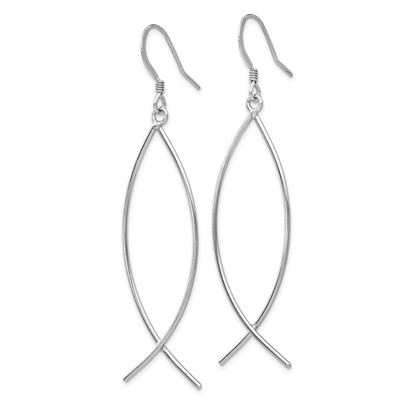 Leslie's Leslie's Sterling Silver Polished Shepherd Hook Dangle Earrings