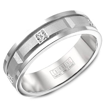 CrownRing Men's Wedding Band WB-8204-M10
