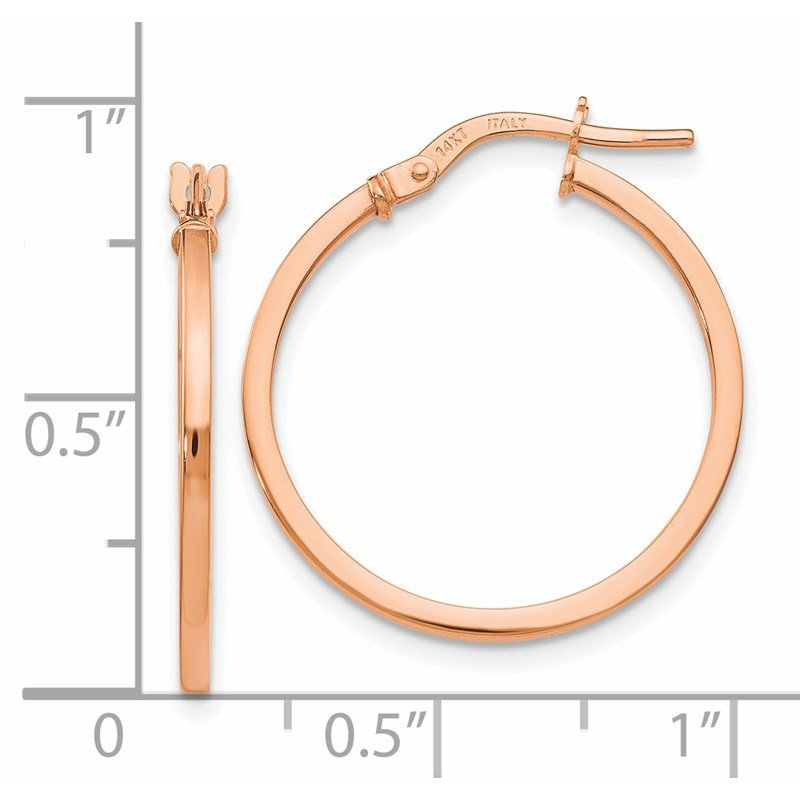 Leslie's Leslie's 14K Rose Gold Polished Hoop Earrings