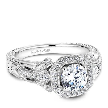 Noam Carver regal Engagement Ring B079-01A