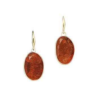 Carnelian Single Drop Earrings
