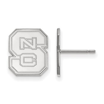 Sterling Silver North Carolina State University NCAA Earrings