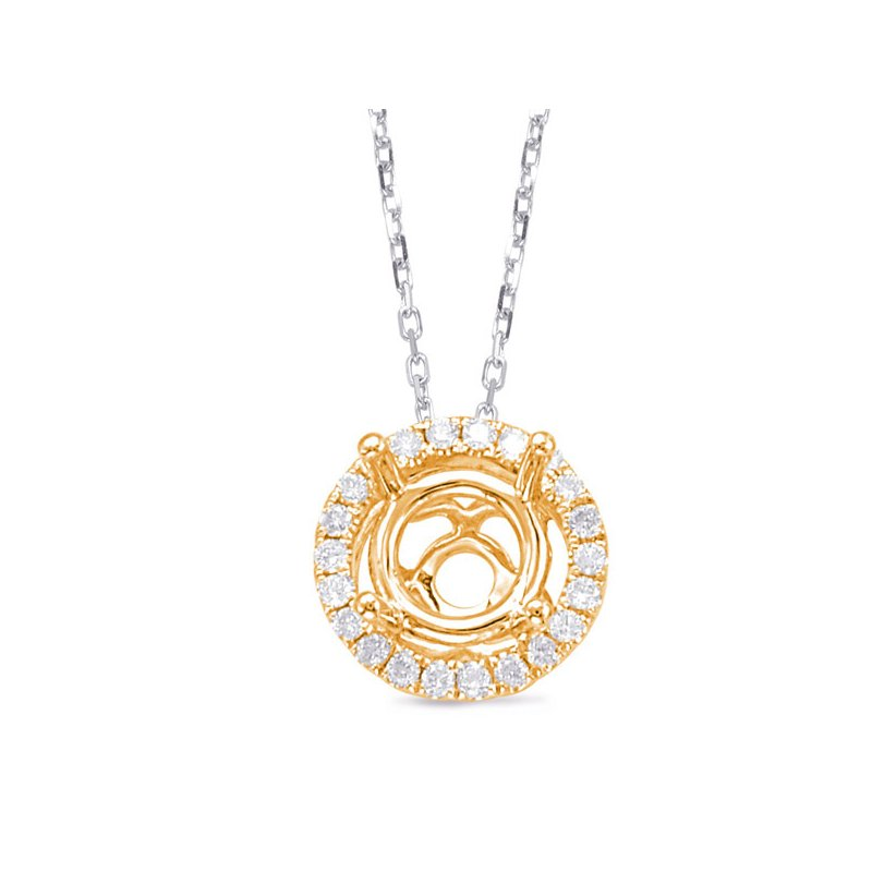 S. Kashi  & Sons Diamond Pendant halo for .33ct center
