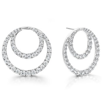 Optima Diamond Circle Earrings- Large