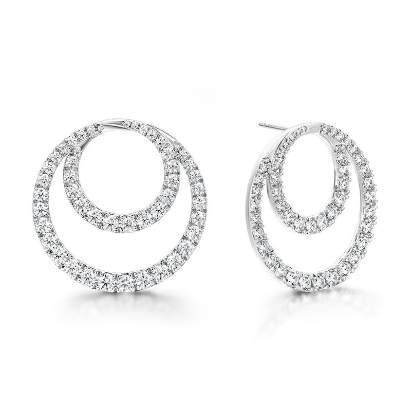 Hearts on Fire 4.64 ctw. Optima Diamond Circle Earrings- Large