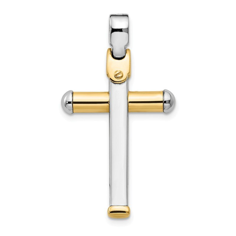 Leslie's Leslie's 14K Two-tone Polished Cross Pendant