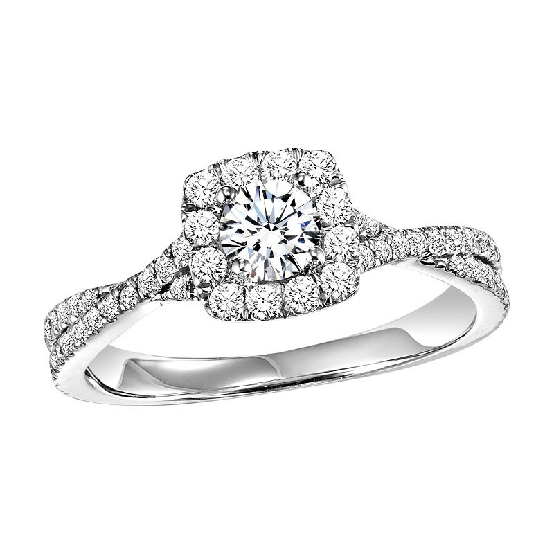 Bridal Bells 14K Diamond Engagement Ring 3/8 ctw with 1/3 ct Center