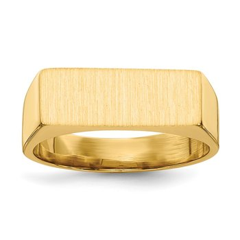 14k 6.0x16.0mm Closed Back Signet Ring