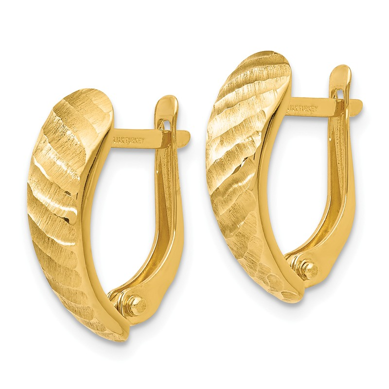 FB Jewels Solid Leslies 14K White Yellow And Rose Tri Color Gold Polished Love Knot Post Earrings