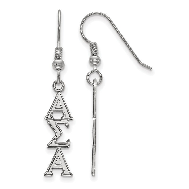 Greek Life Sterling Silver Alpha Sigma Alpha Greek Life Earrings