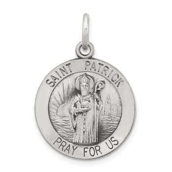 Sterling Silver Antiqued Saint Patrick Medal