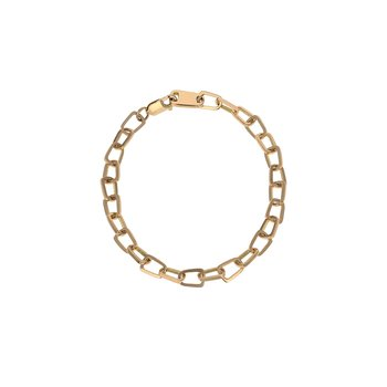 18K Gold Pop Top Cut Out Bracelet