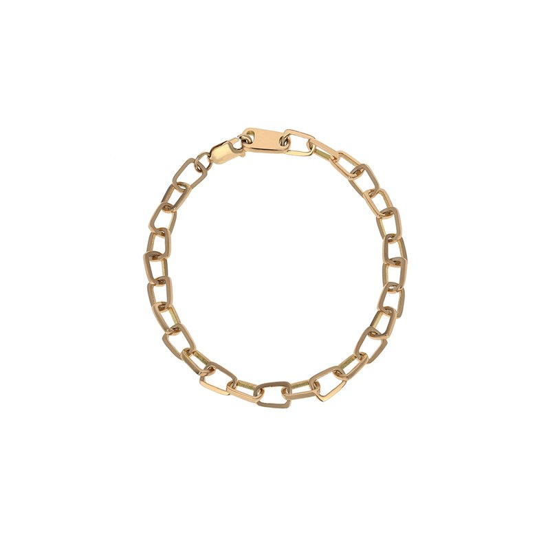 King Baby 18K Gold Pop Top Cut Out Bracelet