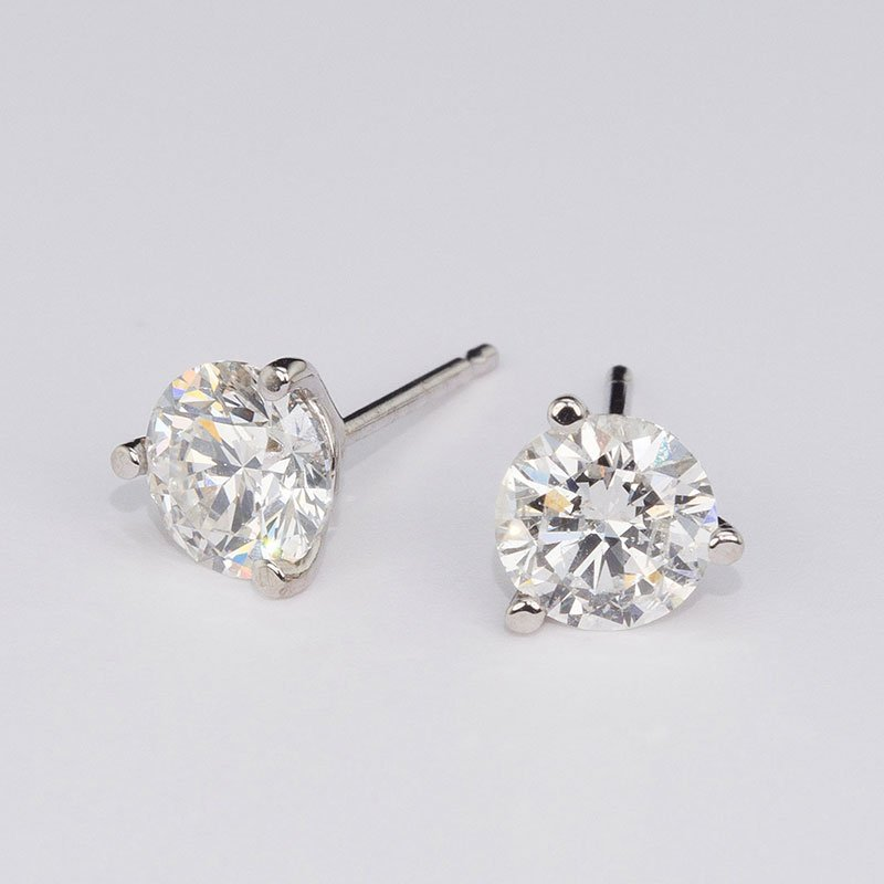 2.21 Cttw. Diamond Stud Earrings