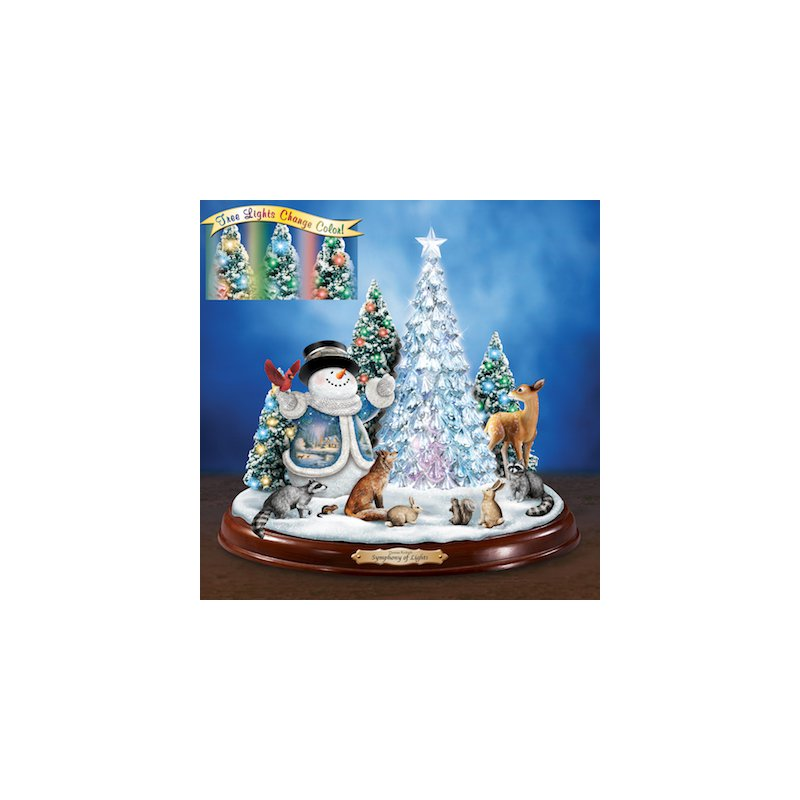 "Bradford Exchange Thomas Kinkade ""Symphony of Lights"" Illuminated Sculpture"