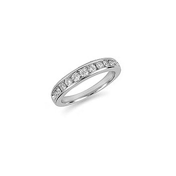 14K WG and diamond  Wedding Band in nick setting