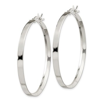 Sterling Silver 2.75x40mm Hoop Earrings
