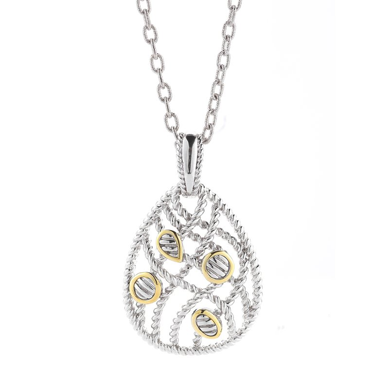 Shula NY Sterling Silver and 14K Yellow Gold Pendantsss