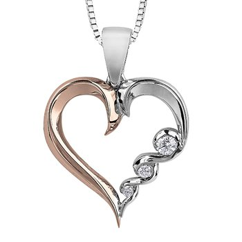 Maple Leaf Diamond Tides of Love Pendant