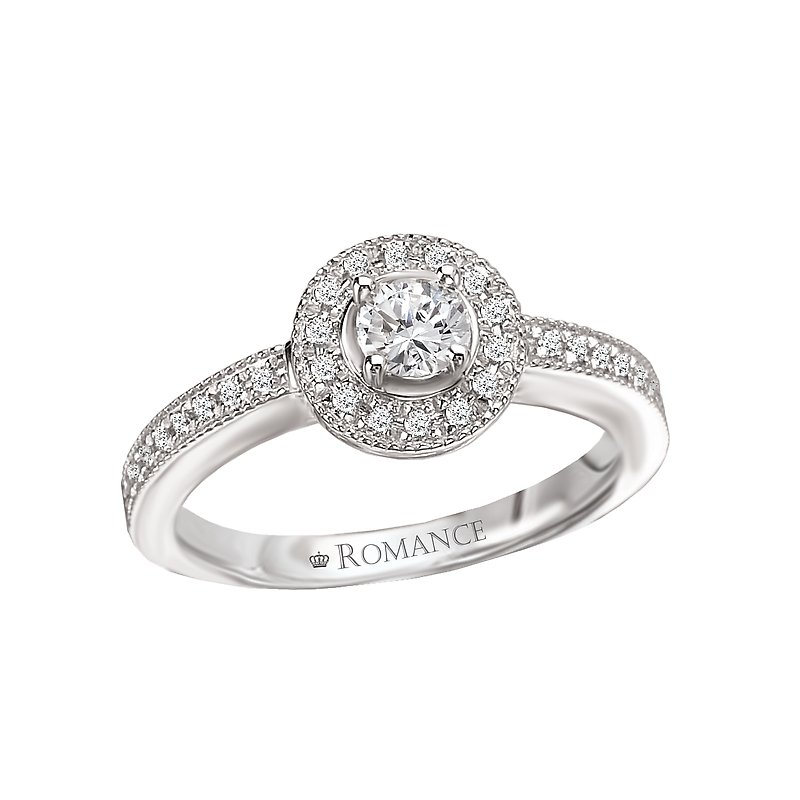 Romance Round Halo Complete Diamond Ring