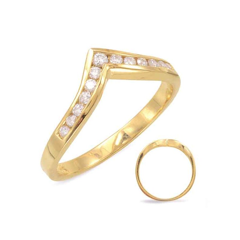 S. Kashi & Sons Bridal V Shape Diamond Band