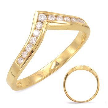 V Shape Diamond Band