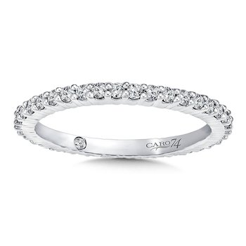 CARO 74 Eternity Band (Size 6.5) in 14K White Gold (0.51ct. tw.)