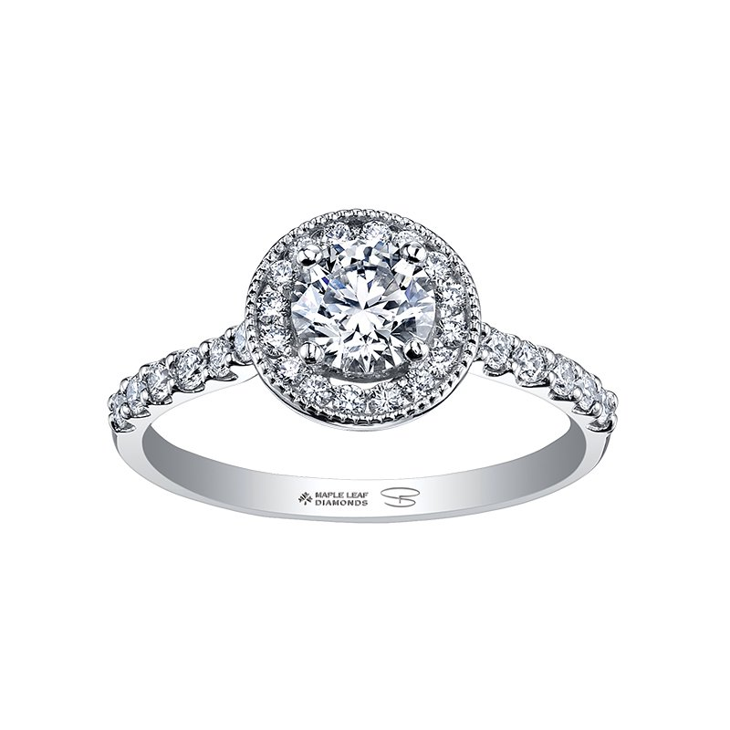 Maple Leaf Diamond Ladies Engagement Ring, Seasons™ by Shelly Purdy