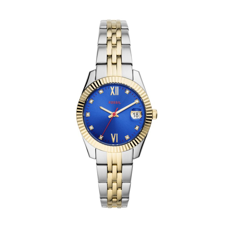 Fossil Scarlette Mini Three-Hand Date Two-Tone Stainless Steel Watch
