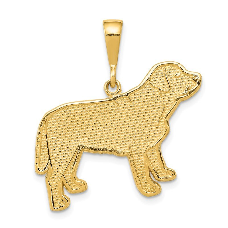 Quality Gold 14k Labrador Dog Pendant