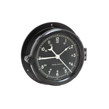 "Patriot Deck Clock - 6"" Black Dial"