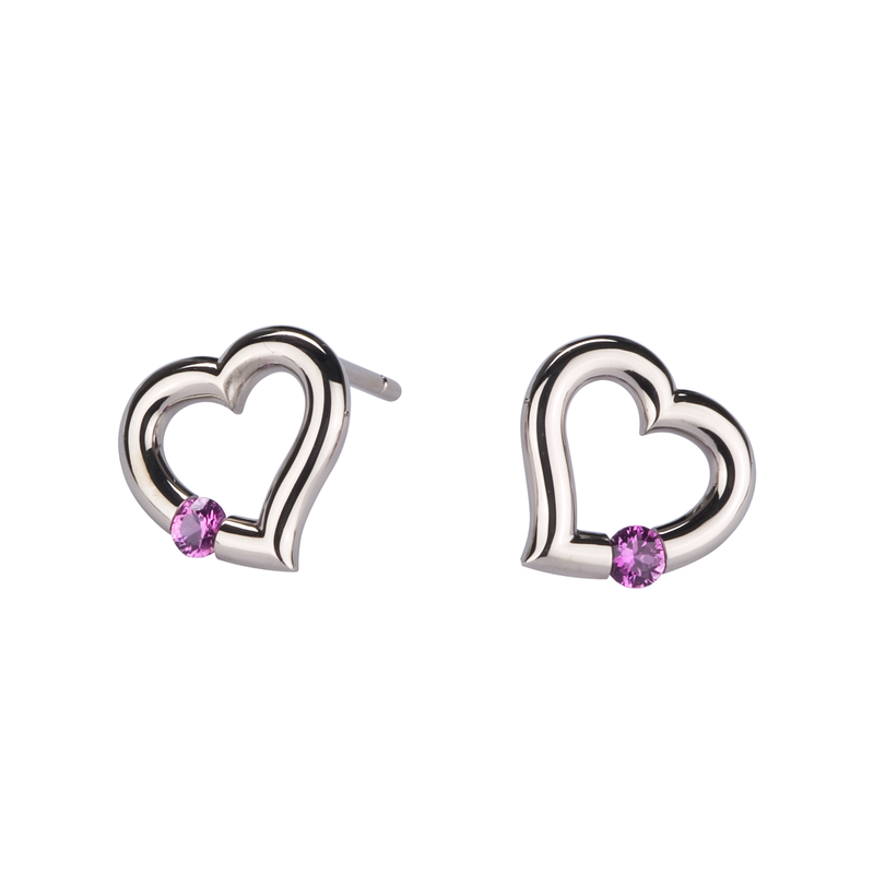 Steven Kretchmer Designs HeartShapedEarrings