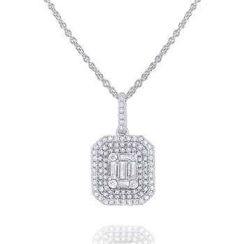 Diamond Metropolis Necklace Set in 14 Kt. Gold