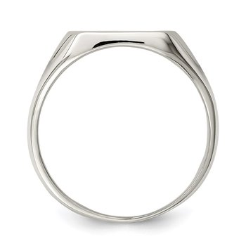 Sterling Silver 12x12mm Closed Back Signet Ring