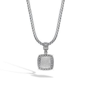 Classic Chain Medium Square Pendant