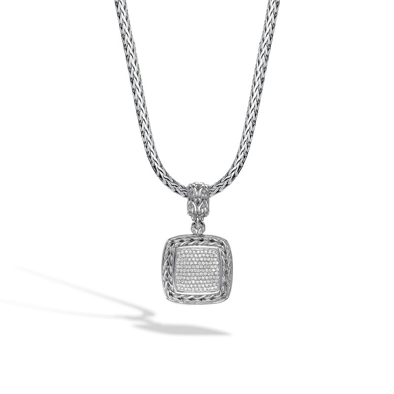 John Hardy Classic Chain Enhancer in Silver with Diamonds