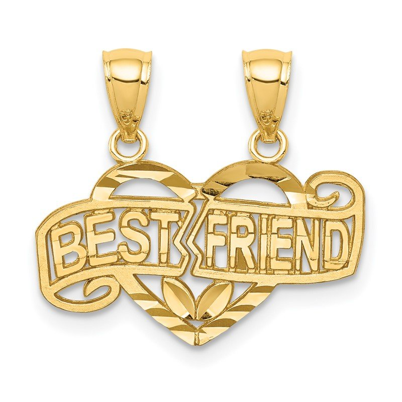 Quality Gold 14K Break-apart D/C Best Friend Pendant