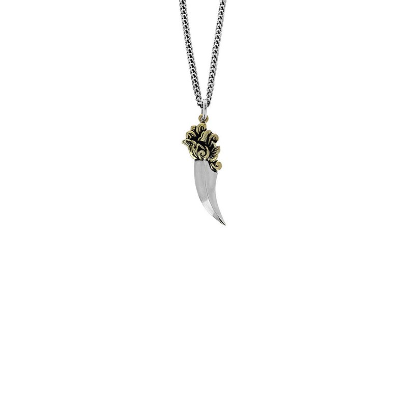 King Baby Two-Tone Ancient Dagger Pendant