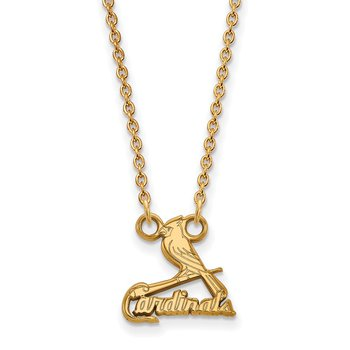 Gold St. Louis Cardinals MLB Necklace