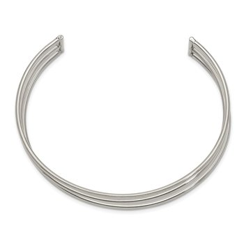 Stainless Steel Polished 12.6mm Cuff Bangle