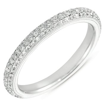 Platinum Pave Wedding Band